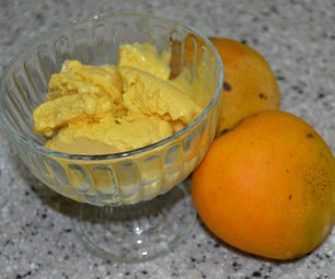 Easy, Flavorful, Mango Ice Cream - No Ice-Cream Maker Necessary!
