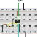 Basic comparator 741 ic