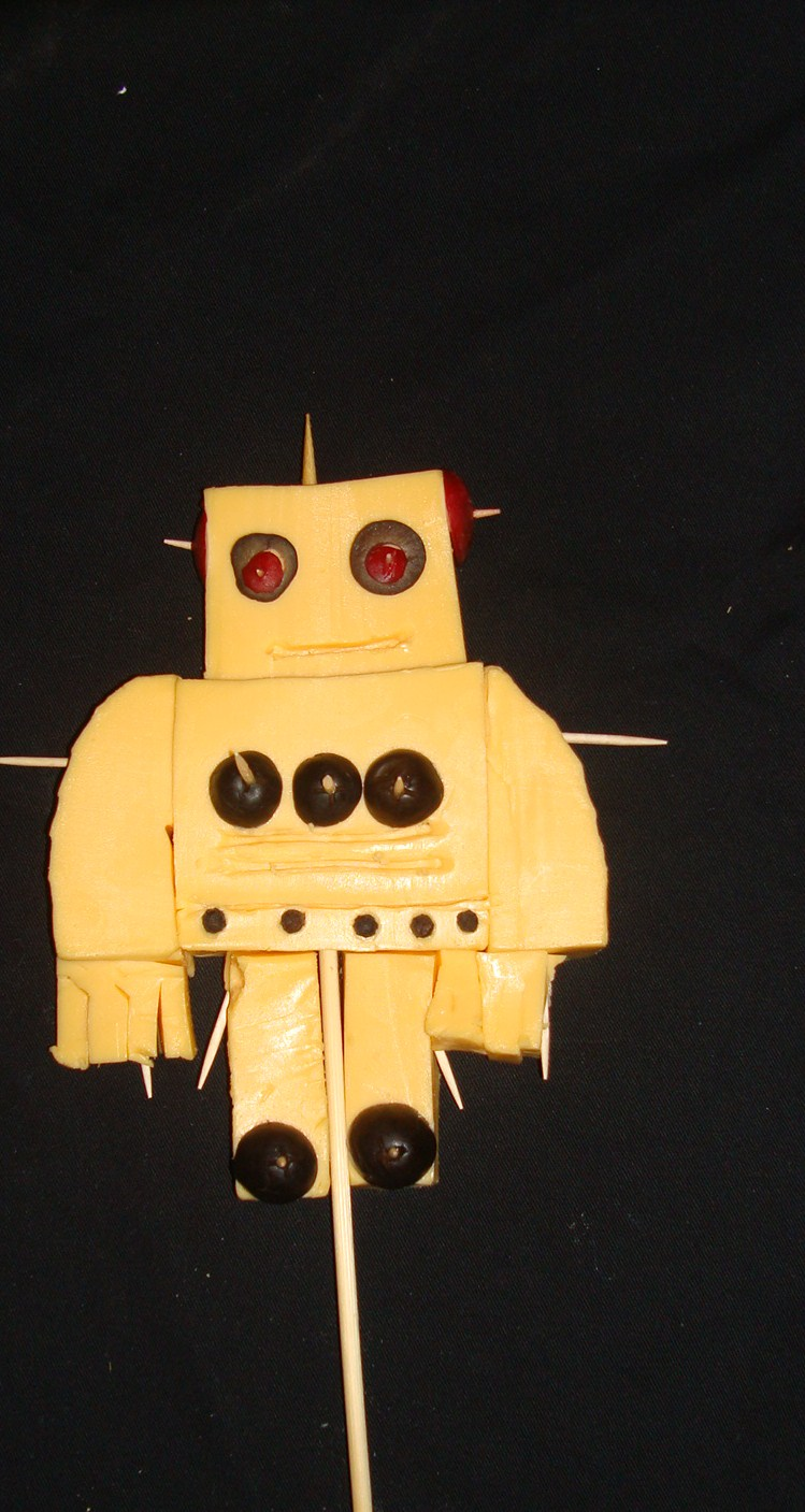 Picture of Edible INSTRUCTABLES ROBOT PATCH ON a STICK