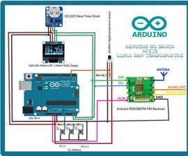 ARDUINO FM RADIO WITH CLOCK AND THERMOMETER
