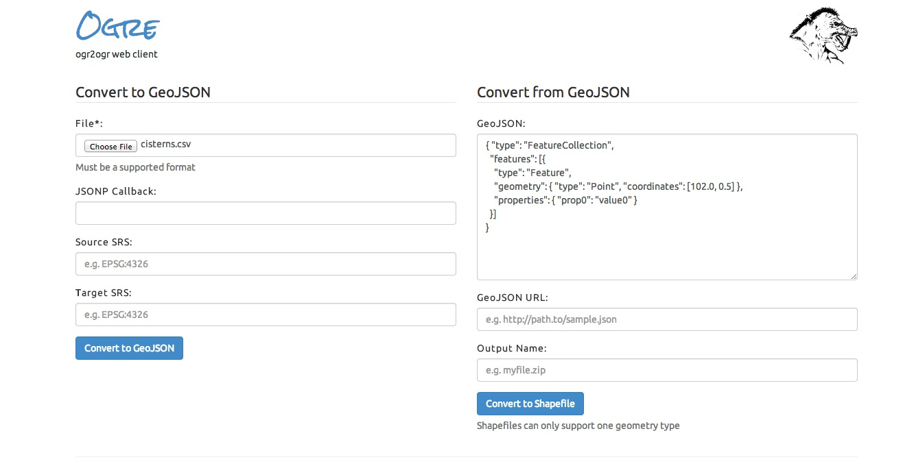 Picture of Convert CSV to GeoJSON Using Ogr2Ogr