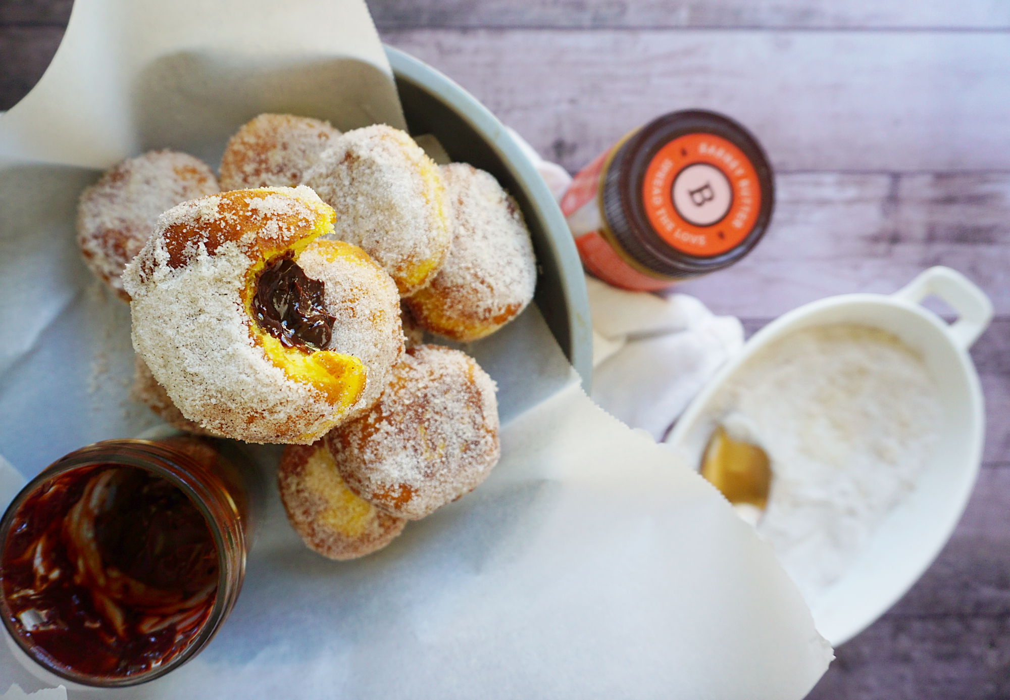 Picture of Gluten-free Chocolate Filled Pumpkin Donuts