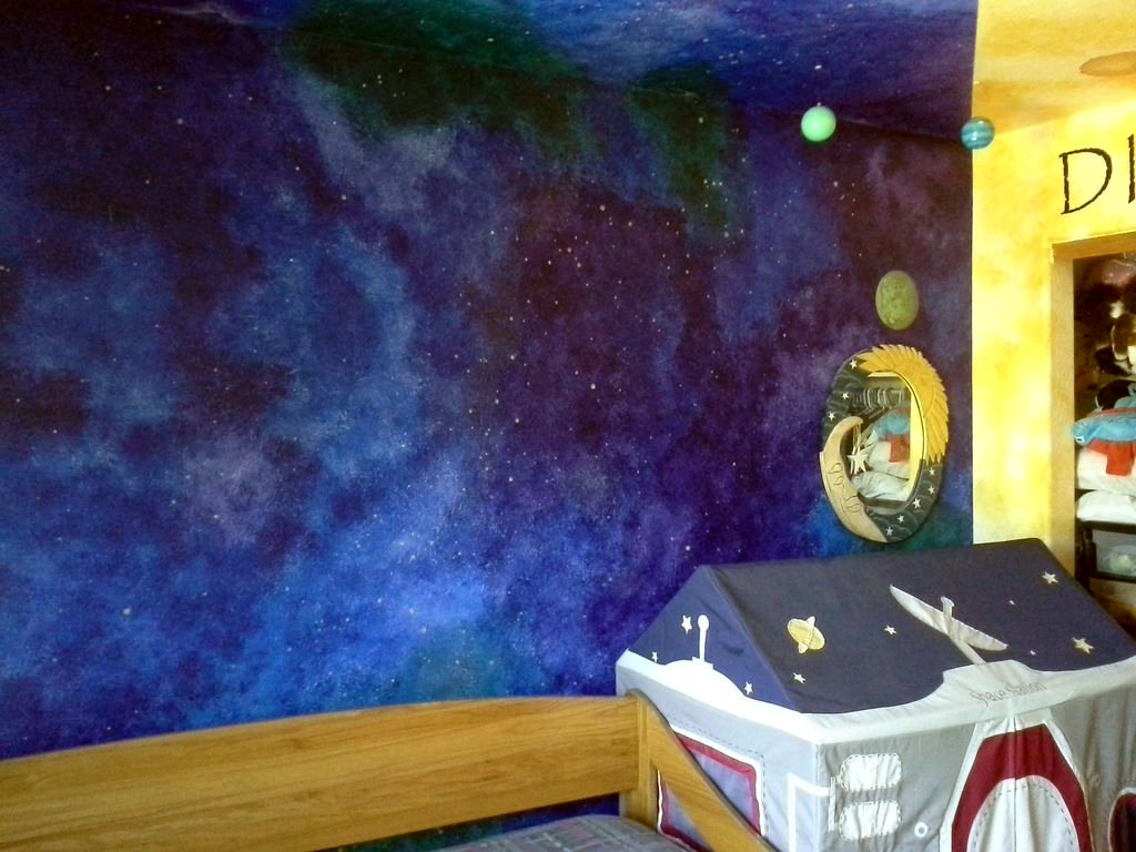 Picture of How to Paint a Star/night-sky Themed Nursery That Will Last Until High School.