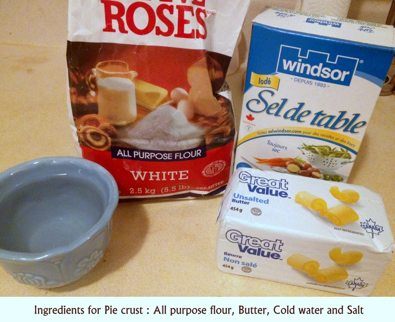 Picture of Ingredients for Pie Crust