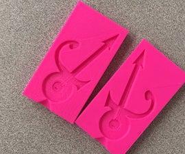 Prince's Love Symbol Guitar - 3D Printed Chocolate Mold