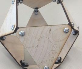 Buckminster-Fuller Mashup - Lasercut and 3D Printed Jitterbug Globe