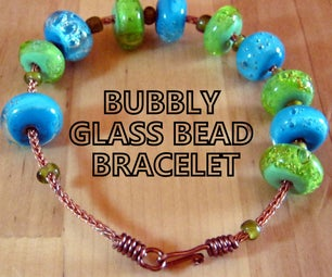 Bubbly Glass Bead Bracelet
