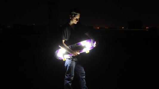 DIY Wireless Floodlights for a Lit Skateboard