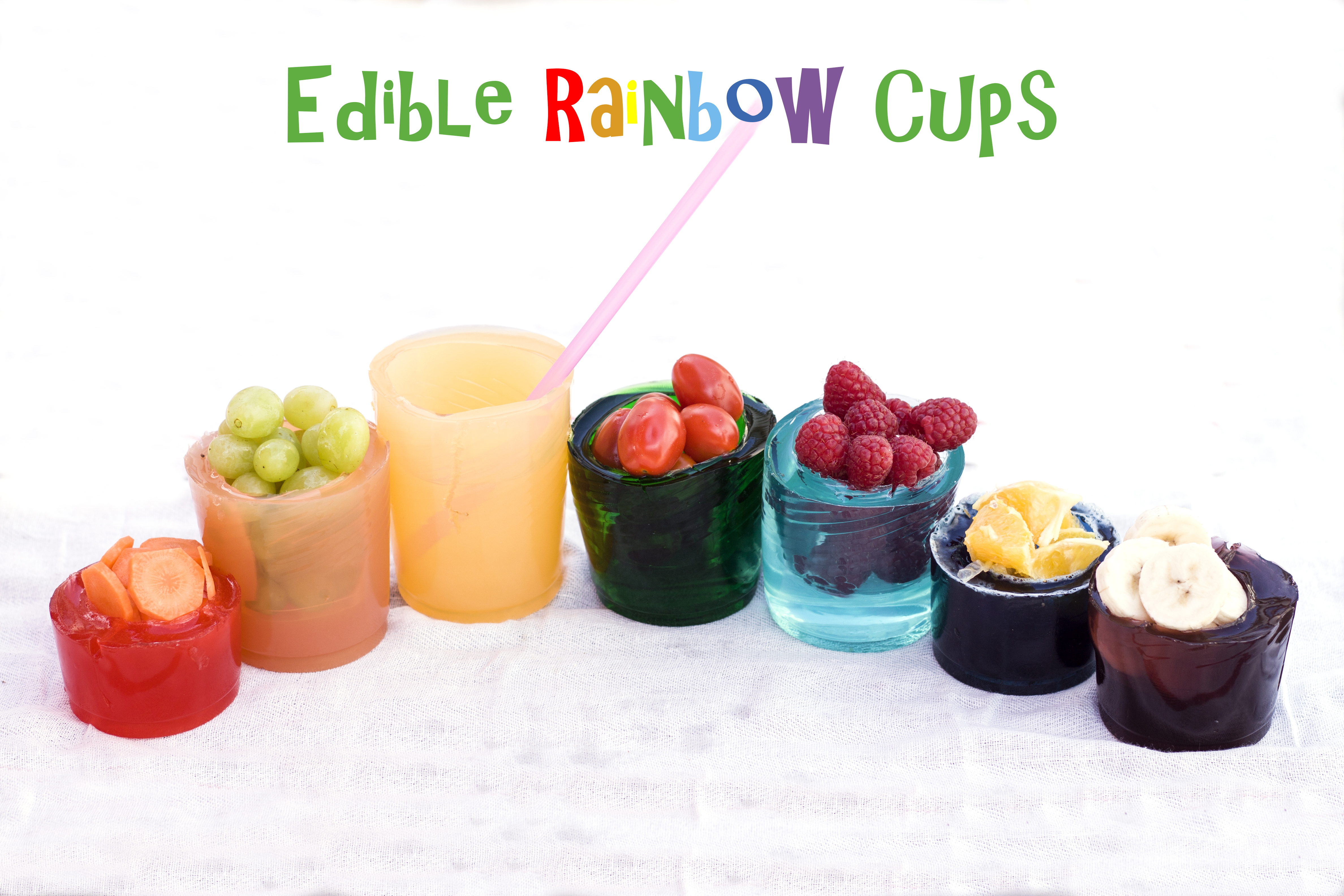 Picture of Edible Rainbow Cups