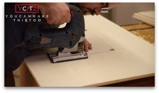 Cut Out the Router Lift Holes