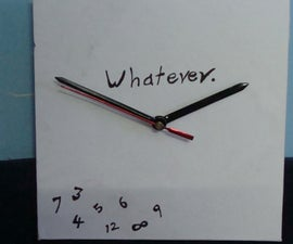 Make a Customized Clock that Runs Backwards