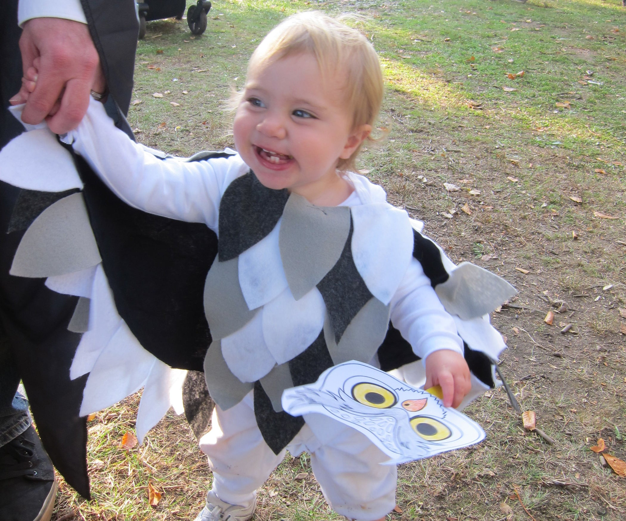 diy no-sew $3 owl costume: 6 steps (with pictures)
