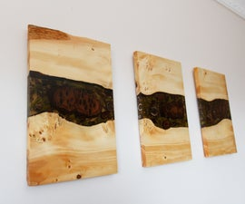 Wood & Resin Triptych
