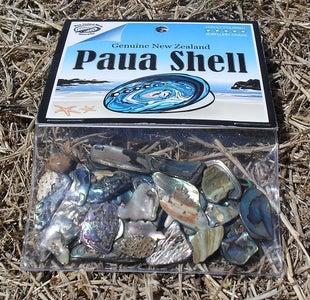 Paua Shells on a Piece of Wood