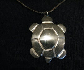 Turtle pendant from a nickel