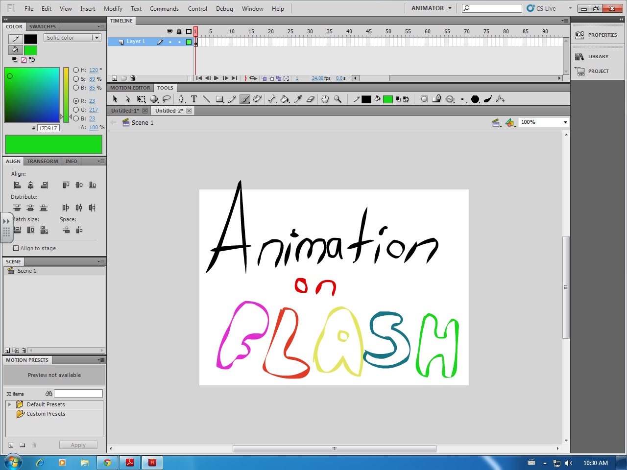 Picture of How to Make an Animation on Adobe Flash