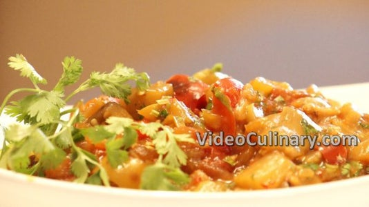 Eggplant Salad – With Tomatoes & Peppers