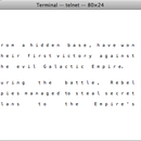 how to play starwars in mac terminal?!?!?!
