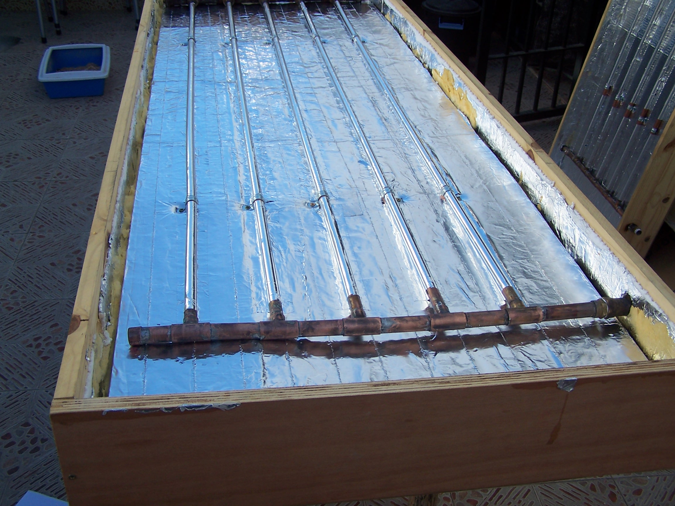 Picture of Homemade Solar Water Heater Forced Circulation With Mini Pump