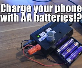 Charge your phone with AA batteries!?