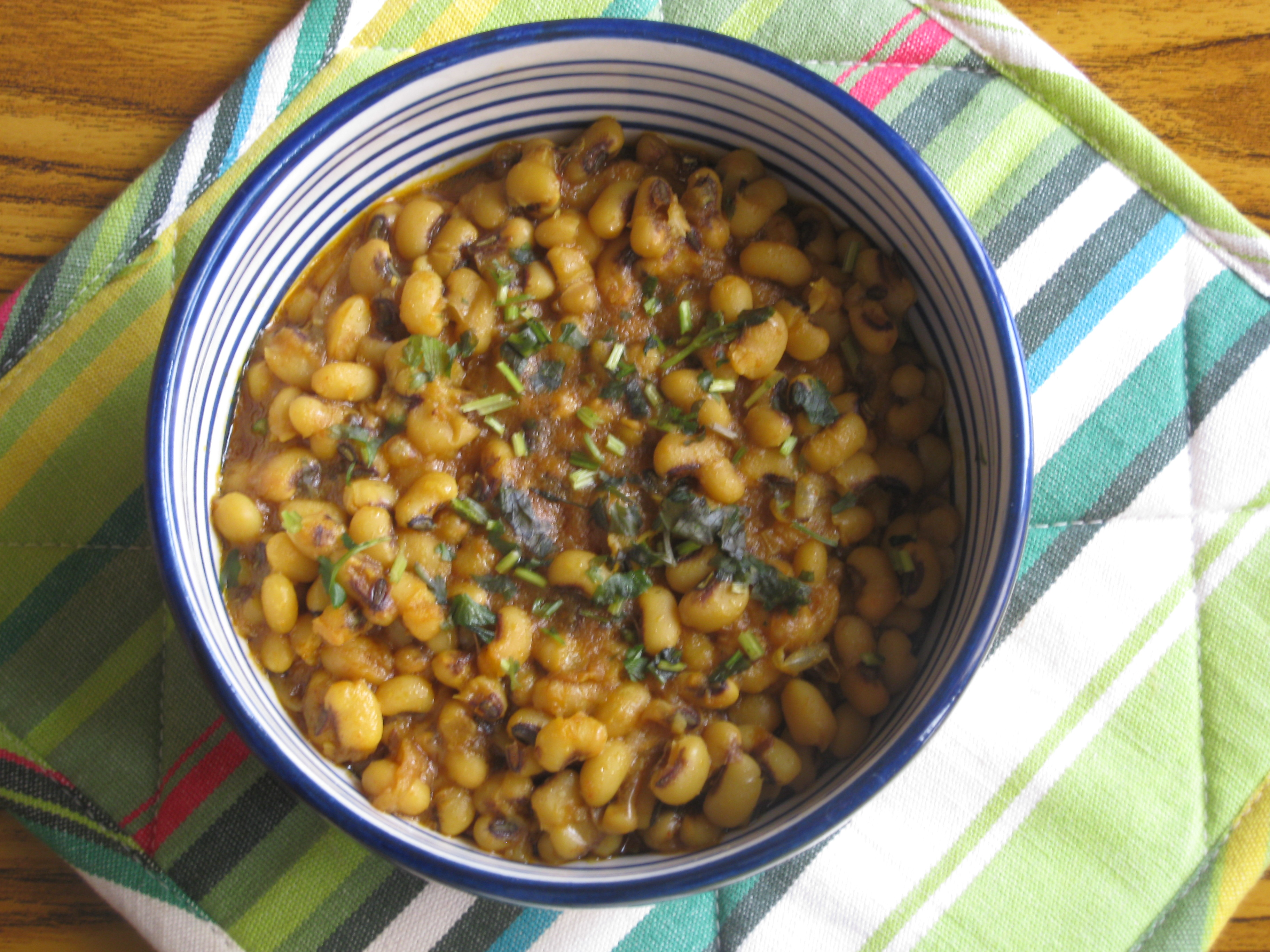 Picture of Quick Black Eye Beans Rajma (curry)