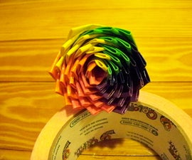 Six-Color Duct Tape Rose