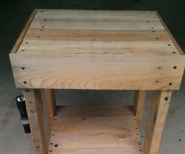 Pallet End Table/Secret Storage