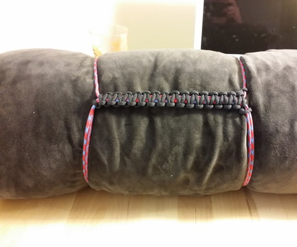 Paracord Blanket / Sleeping Bag Compression Strap With Handle - I Made It at TechShop!