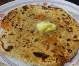 How to make Carrot Parantha (Orange Parantha)