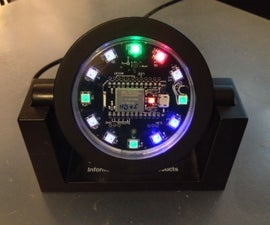 NeoPixel Clock with SparkCore Internet Button Shield