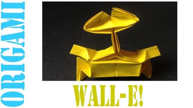 Origami Wall-E (Riki Saito) - YouTube | 360x640