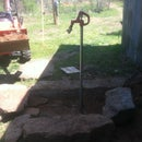 yard faucet ( water spout )installed