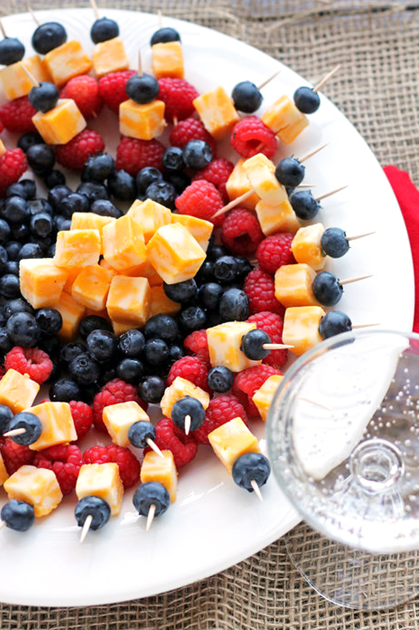 Picture of Simple Fruit and Cheese Kabobs