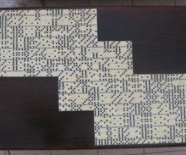 Dominoes Covered Coffee Table