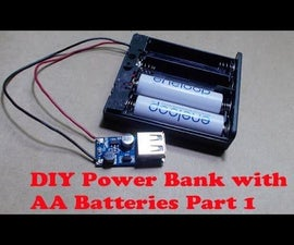 DIY Emergency Power Bank with  AA Batteries and USB DC Voltage Step-up Boost Module
