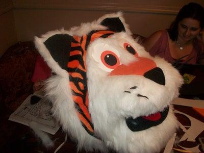 """DIY Homemade Cincinnati Bengals Tiger Mascot """"Who Dey"""""""