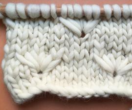 How to Knit Dandelion Flower Stitch