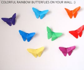 Butterfly origami wall decor