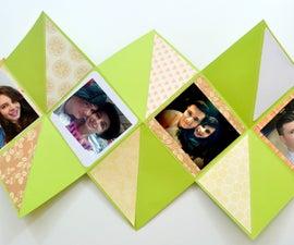 Mini Album - How to Make a Squash Book ( Squash Card ) - DIY Paper Crafts
