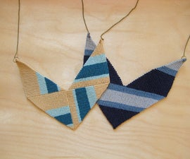 Knotted Chevron Statement Necklace - Two Ways