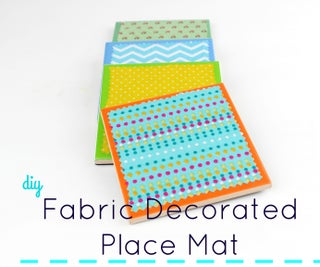 Fabric Decorated Place Mat!!