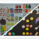 Mini supermarket shelves, restaurant, school, ...