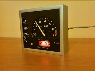 Old Instrument Cluster USB Clock