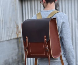 Hand Stitched Leather Rucksack