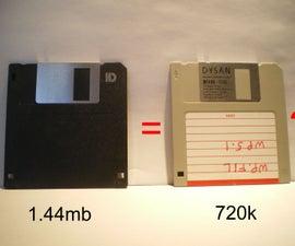 Convert a 1.44MB floppy to 720K