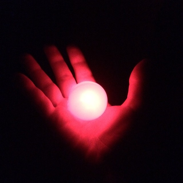 Picture of Glow in the Dark LED Ping Pong Ball
