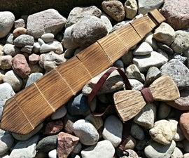 Wooden tie and bowtie