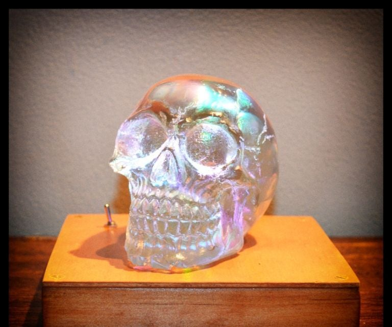 Crystal Skull Lamp (made From Resin)