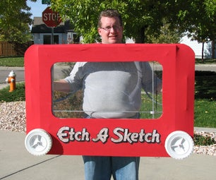 Giant Etch a Sketch Costume