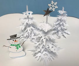Snowflake Trees...A Great Holiday Craft!